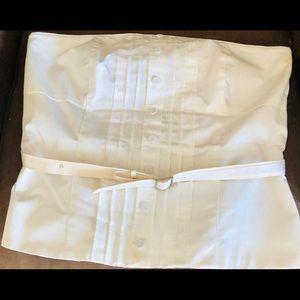 WHBM white strapless top!